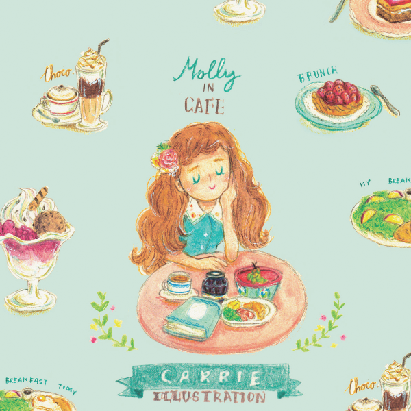 Molly in Cafe
