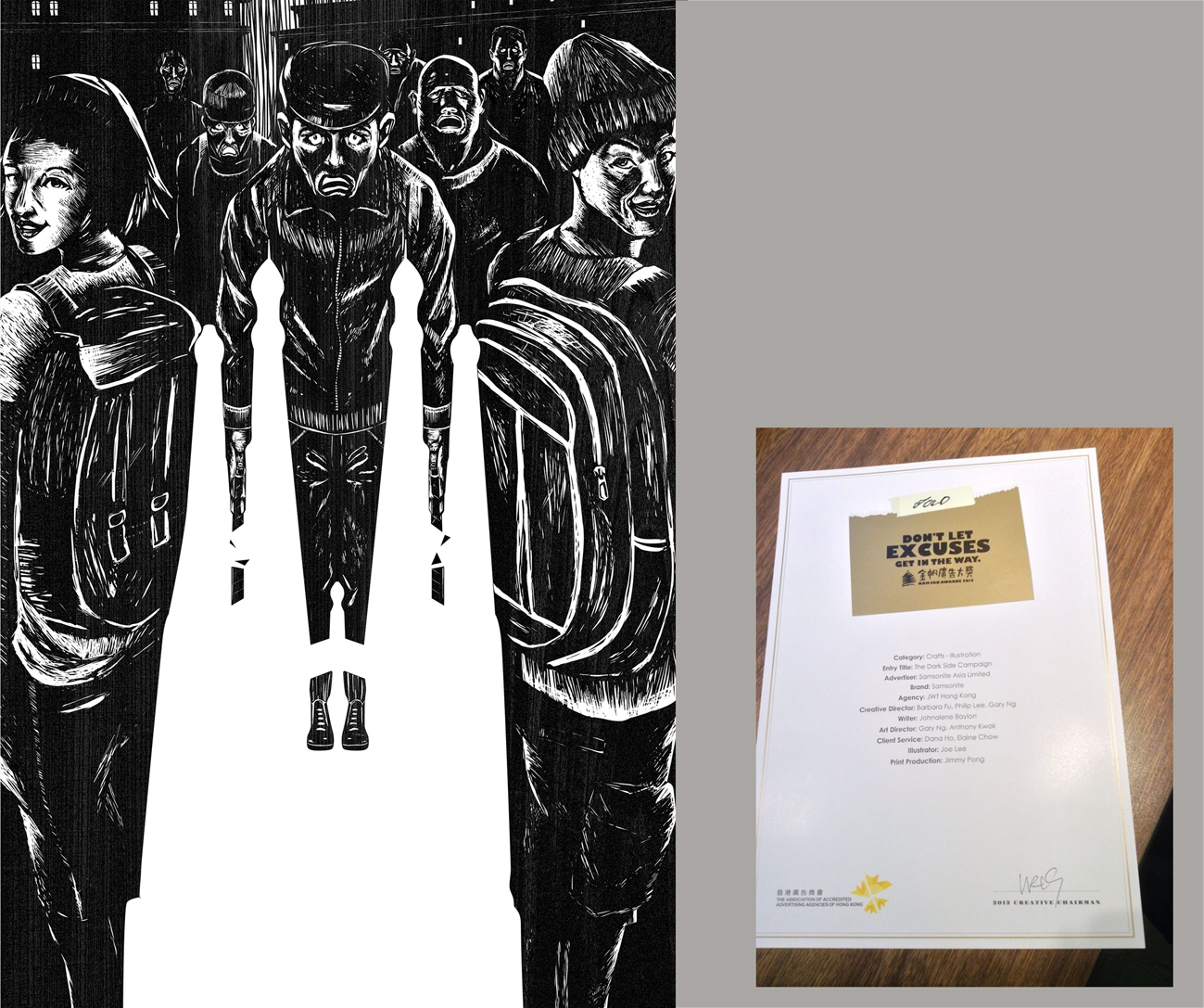 4A's Kam Fan Awards 2013- Gold- The Best Illustration-Samsonite-The Dark Side Campaign