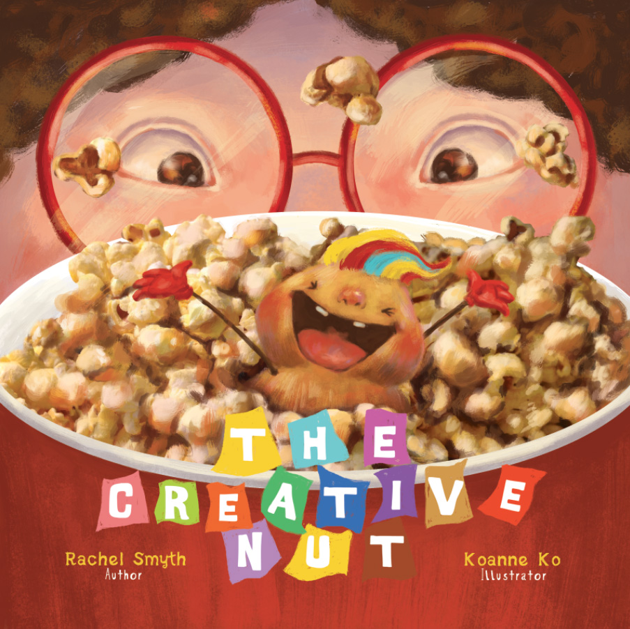 """Creative Nut"" book cover art"