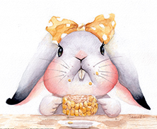 Grumpybunbun loves corn