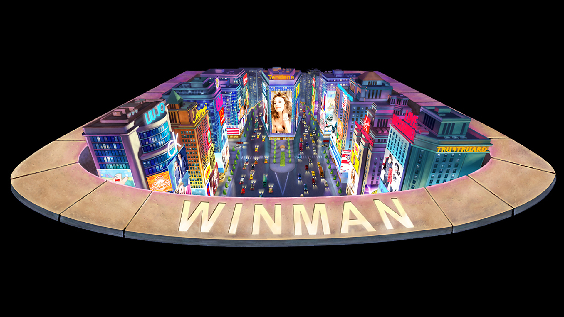 Trick art for WINMAN mall Macau
