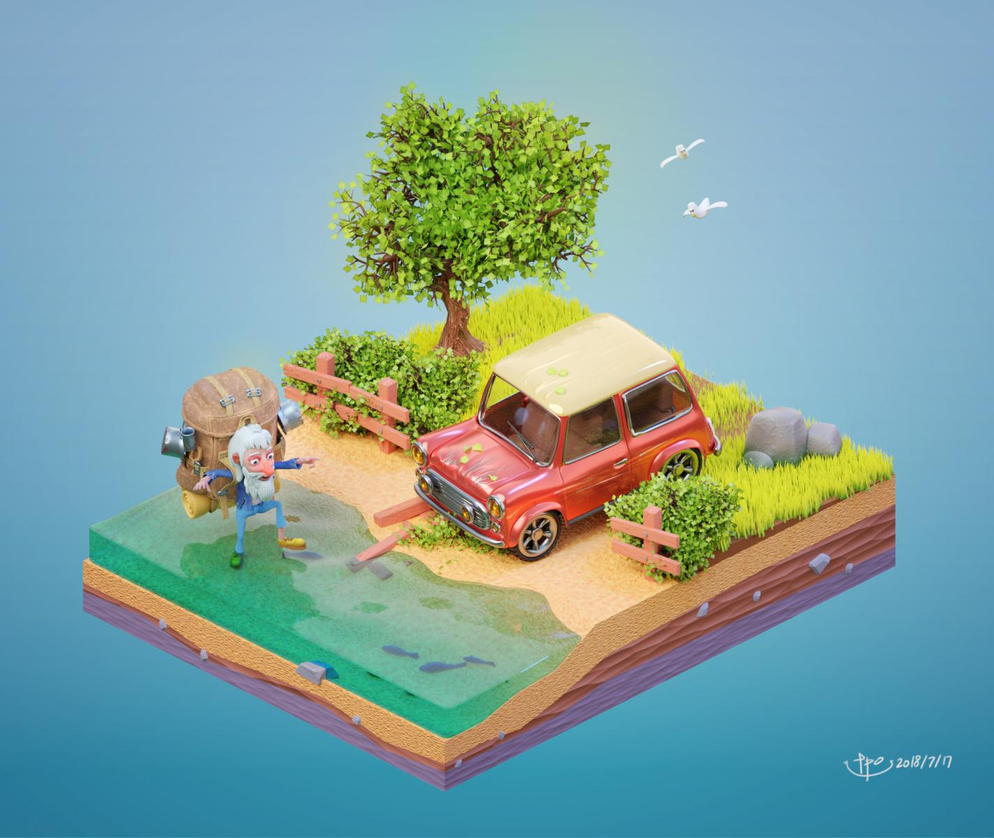 Isometric Car Crash