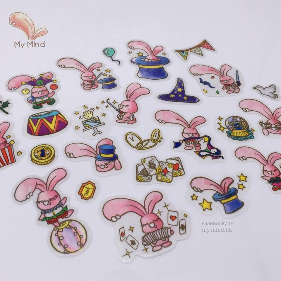 The Hidden Rabbit Stickers for TAIPEI TOY FESTIVAL 2018