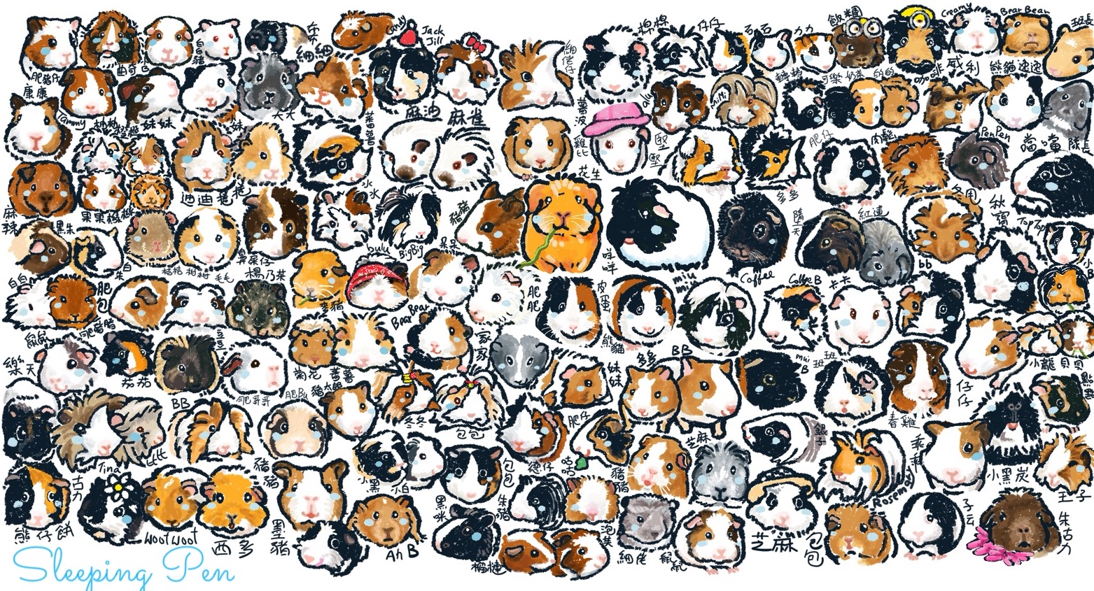 Hundreds of Guinea Pigs