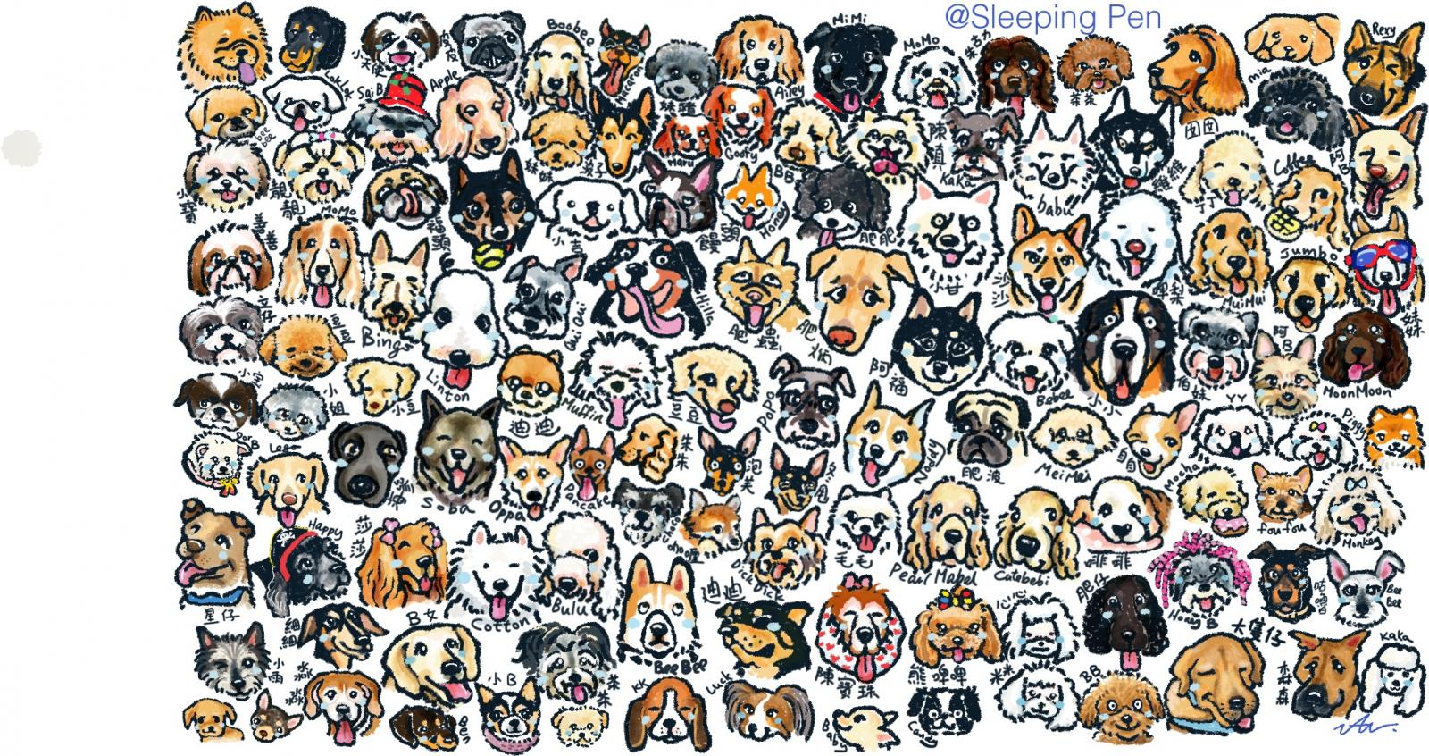 Hundreds of Dogs