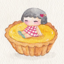 Hong Kong style tea time - egg tart