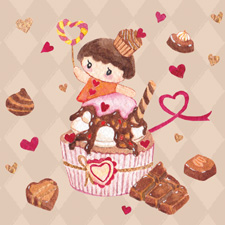 Sweet cupcake girl - Chocolate