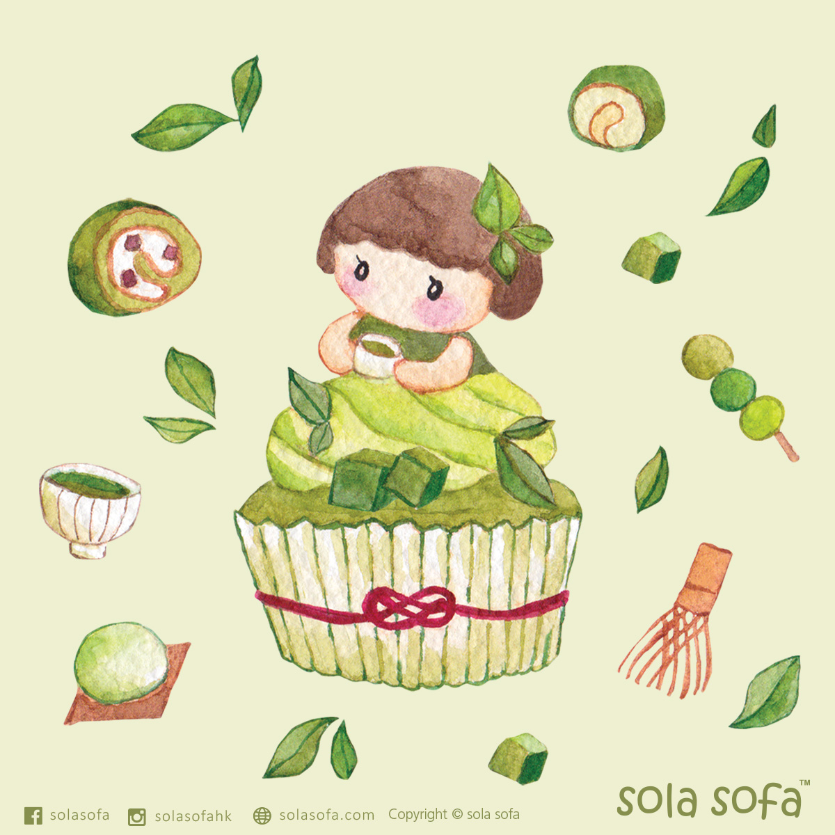 Sweet cupcake girl - Matcha