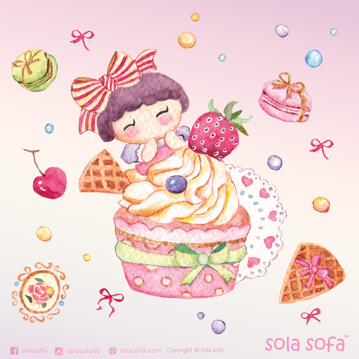 Sweet cupcake girl - Strawberry
