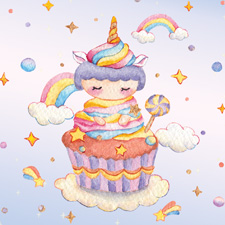 Sweet cupcake girl - Unicorn