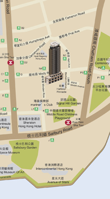 凱譽 Harbour Pinnacle Location Map