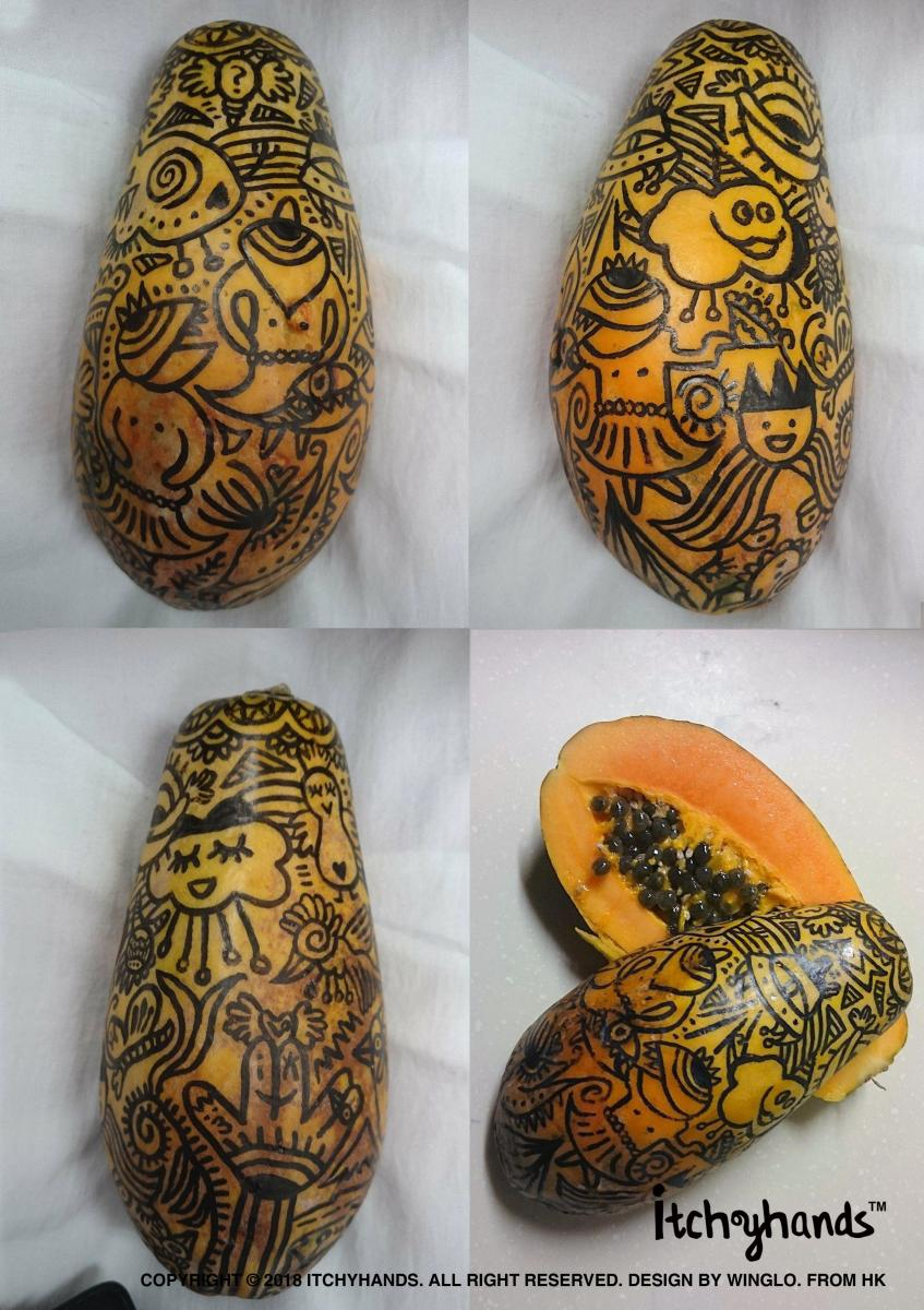 Papaya painting